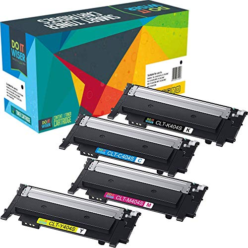 Do it Wiser Compatible Toner Cartridge Replacement for Samsung 404 404S CLT-K404S CLT-C404S CLT-M404S CLT-Y404S for Samsung Xpress C430W C480FW SL-C430W SL-C480W SL-C480FN SL-C430 SL-C480 (4 Pack)