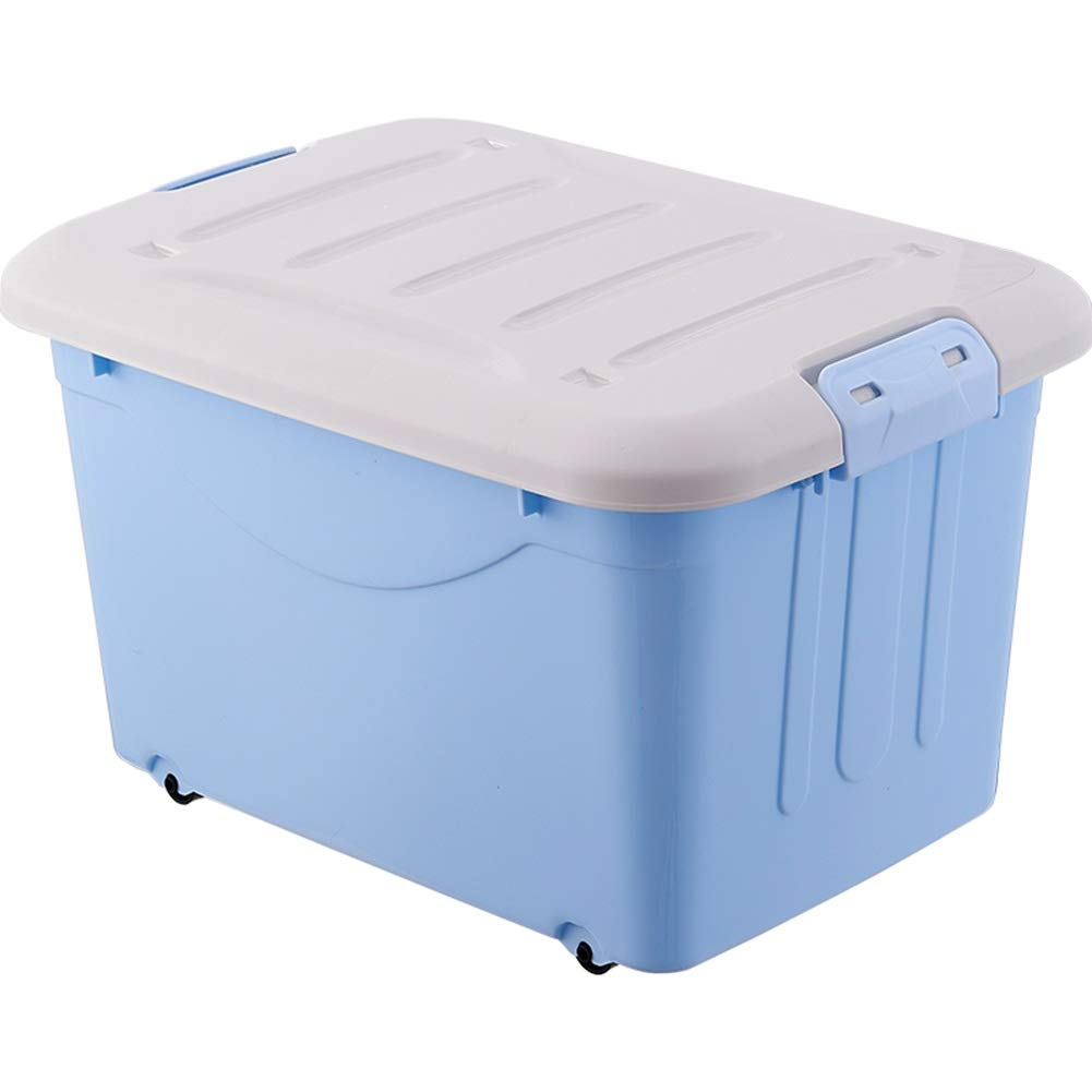 bluee 100L2 ZHANGQIANG Storage Basket Laundry Basket Large Storage Bins Organizer with Handle, Collapsible Cube Basket Container Box for Closet (color   Green, Size   40L1)