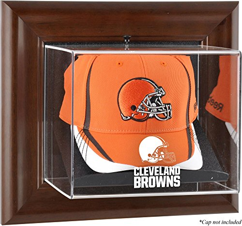 (Mounted Memories Cleveland Browns Brown Framed Baseball Cap Case - Cleveland Browns One)