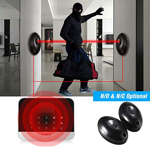 2PACK Single Infrared Beam Sensor, Waterproof Photoelectric Detector Active IR Alarm Host for Security and Anti-Jamming-Half Egg Shaped FCC