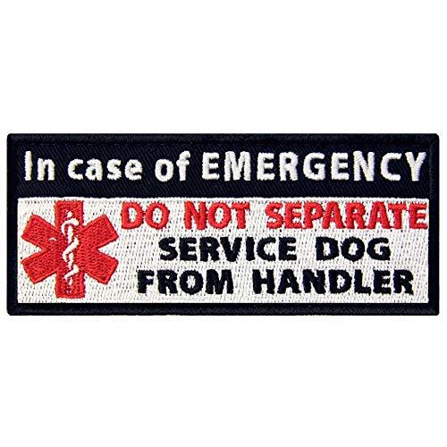 (Service Dog in Case of Emergency Medic Paramedic Star of Life Vests/Harnesses Patch Embroidered Fastener Hook & Loop Emblem)