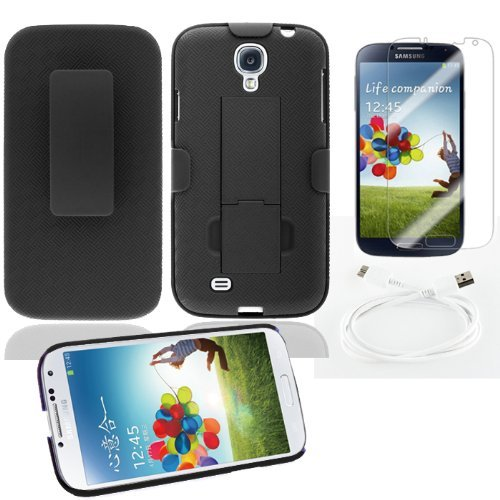 Abco Tech 3-item Belt Clip Case Accessory Bundle for Samsung Galaxy Note 3 - Includes: Belt Clip Case, Screen Protector and USB Cable for Samsung Galaxy Note 3
