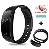 Fitness & Activity Tracker, Besteker Smart Bracelet Fitness Tracker Sport Wristband Bluetooth IP 67 Waterproof Touch Screen Smart Band for iPhone Android Smartphone - Black