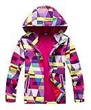 #9: Hiheart Girls Composite Mesh Lined Waterproof Active Hoodies Jacket