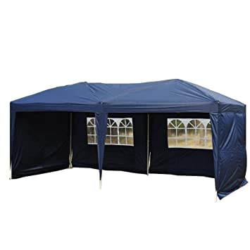 Goutime Uscanopy Easy Pop up Canopy Party Tent 10 X 20-feet W  sc 1 st  Amazon.com : 10x20 canopy with sides - memphite.com