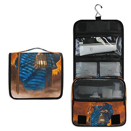 - African Warrior Toiletry Bag Multifunction Cosmetic Bag Portable Makeup Pouch Waterproof Travel Hanging Organizer Bag for Women Men Girls