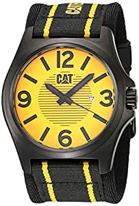 Caterpillar PK.161.61.731 Reloj Análogo de Lujo, para Hombre, amarillo y negro
