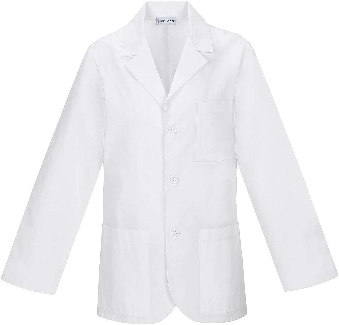 "MEDMAN 31"" Men's Consultation Lab Coat: Clothing"