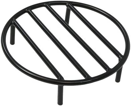 Sunnydaze Fire Pit Grate - Heavy-Duty Steel - Round Firewood Grate for Outdoor Firepits - 12-Inch Black