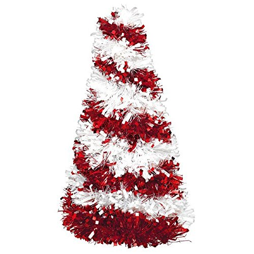 amscan Christmas Tree Tinsel Centerpiece | Holiday Decoration