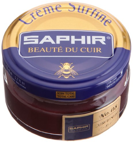 Saphir Shoe Cream Beaute du Cuir Creme Surfine 50ml Glass jar (Burgundy)