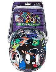 Kit de Proteção Infantil Monster com Capacete Cotoveleiras Joelheiras e Luva Tam. Único Indicado para +3 Anos Atrio - ES200
