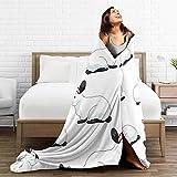 LTtie Blanket Californian Rabbit Ultra Soft Fleece