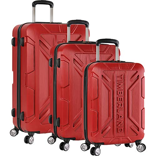 (Timberland 3 Piece Hardside Spinner Luggage Set 1, Chili Pepper)