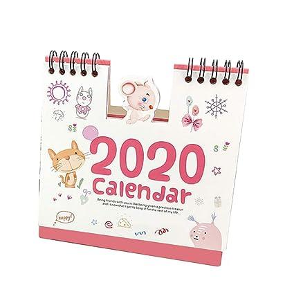 Calendario de escritorio con diseño de dibujos animados ...