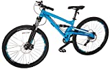 "Diamondback Bicycles Atroz Full Suspension Mountain Bike, Gloss Cyan, 16""/Small"