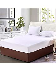 Home Beyond Premium Knit Mattress Protector, Waterproof Hypoallergenic Deep Pocket Fitted Mattress Cover, Vinyl Free, Double/Full