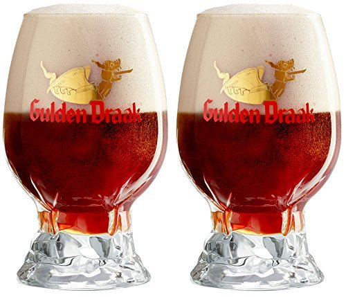 Gulden Draak Dragons Egg Signature Beer Glass Set of 2