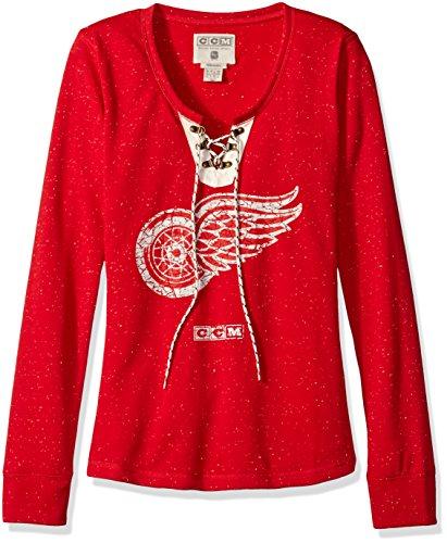 NHL Women's Lace Up Henley Shirt – DiZiSports Store