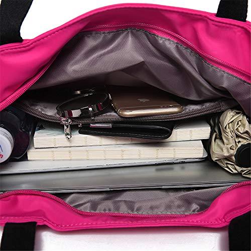 nuevos portátil de minimalista capacidad de de la LANDONA de bolso señora de la tela de hombro bolso madre oxford bolsa de grande nylon lona alta impermeable gT7FPxg