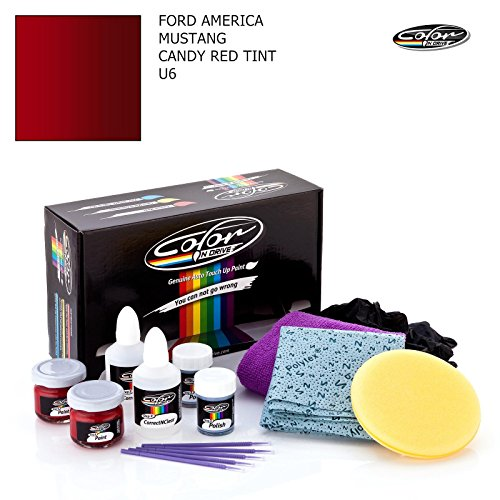 FORD AMERICA MUSTANG / CANDY RED TINT - U6 / COLOR N DRIVE TOUCH UP PAINT SYSTEM FOR PAINT CHIPS AND SCRATCHES / BASIC - Code Color Tint
