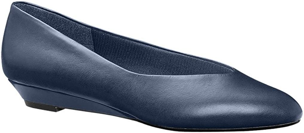 Comfort Footwear with Rounded Toe Navy