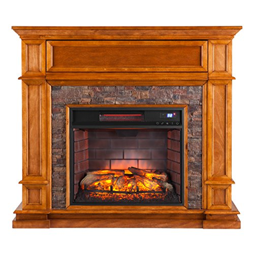 Southern Enterprises Belleview Infrared Media Fireplace 45