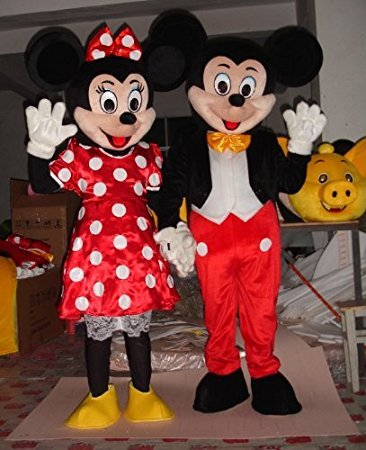 [Mascot Costume Party Apparel Mascot Cartoon Character Adult Sz] (Mickey And Minnie Costumes Adults)