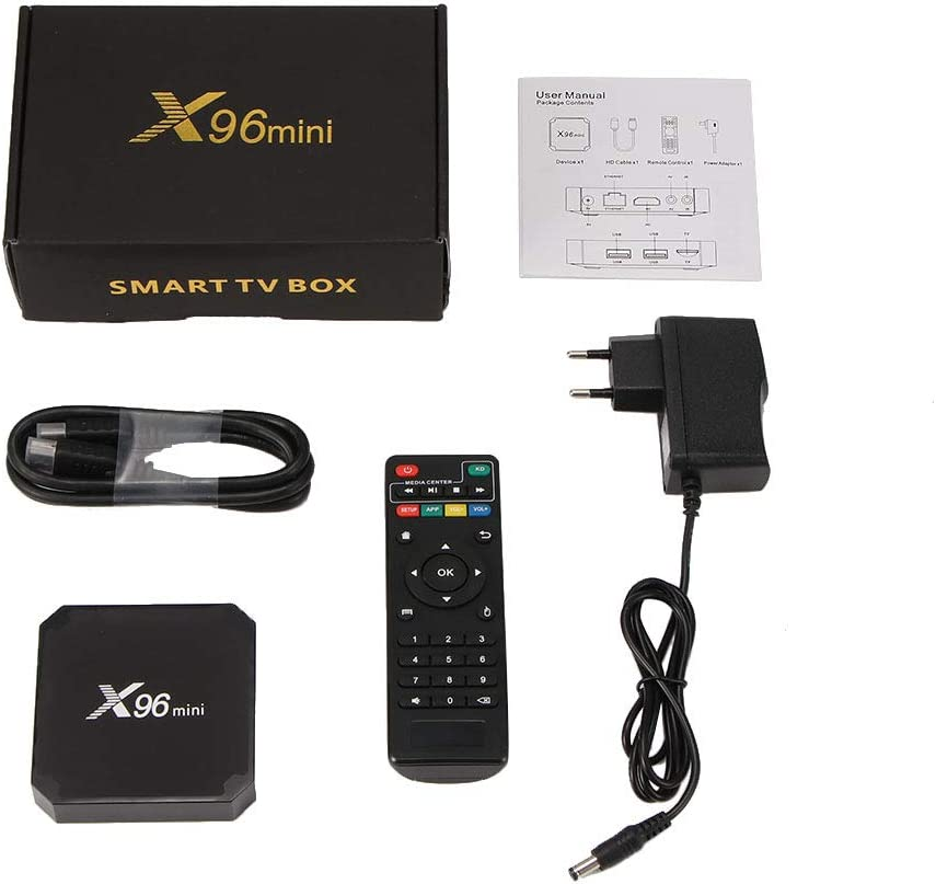 Laiashley Android TV Box, X96 Mini TV Box, Android 7.1.2 Amlogic S905W Quad Core 2GB RAM / 16GB ROM, Soporte WiFi HD 4K Player