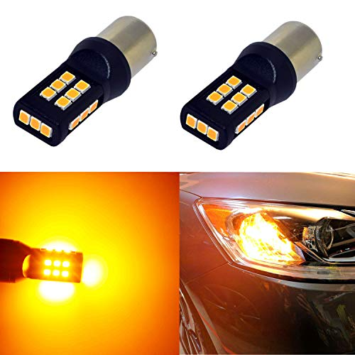 - Alla Lighting BA15S 1156 Amber Yellow LED Bulbs Xtreme Super Bright P21W 7506 1156 LED Bulb 3035 21-SMD 12V LED 1156 Bulb for Car Truck Motorcycle RV Turn Signal Blinker Lights