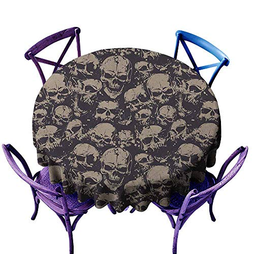 familytaste Skull,Tabletop Decoration Round Tablecloth D 70