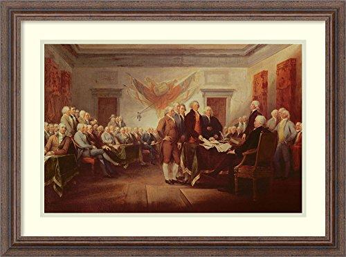 Framed Art Print 'Signing the Declaration of Independence, 4th July 1776, c.1817' (Declaration Of Independence Portrait)