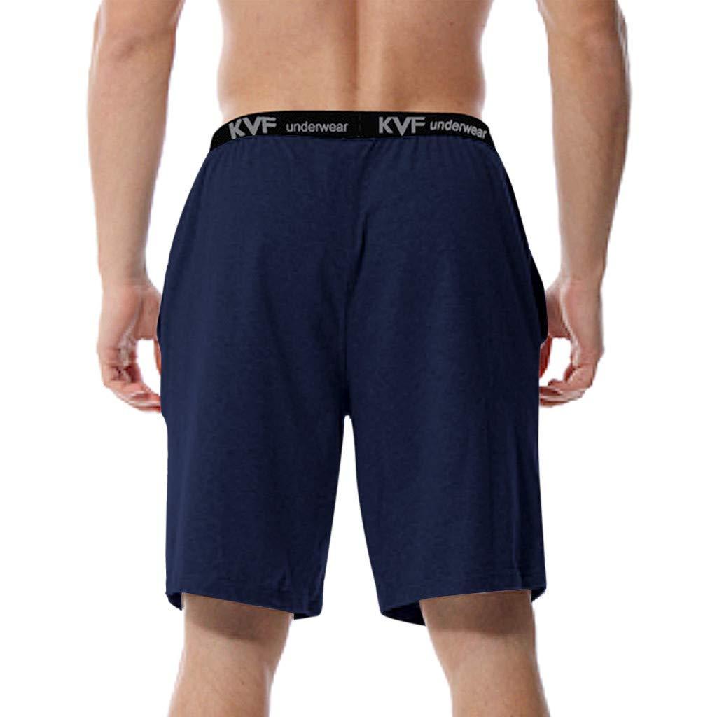 Palarn Sports Pants Casual Cargo Shorts Mens New Summer Casual Solid Soft Breathable Sport Loose Beach Short Pants