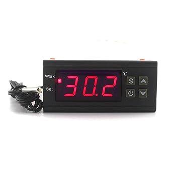 ketotek Digital controlador de temperatura AC 220 V 10 A regulador de termostato -50 ~