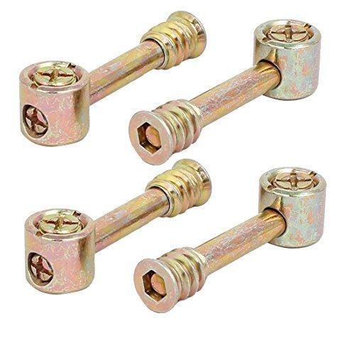 Conexión eDealMax armario metálico tono Herrajes excéntrico Cam tuercas de rueda de bronce 4 sistemas