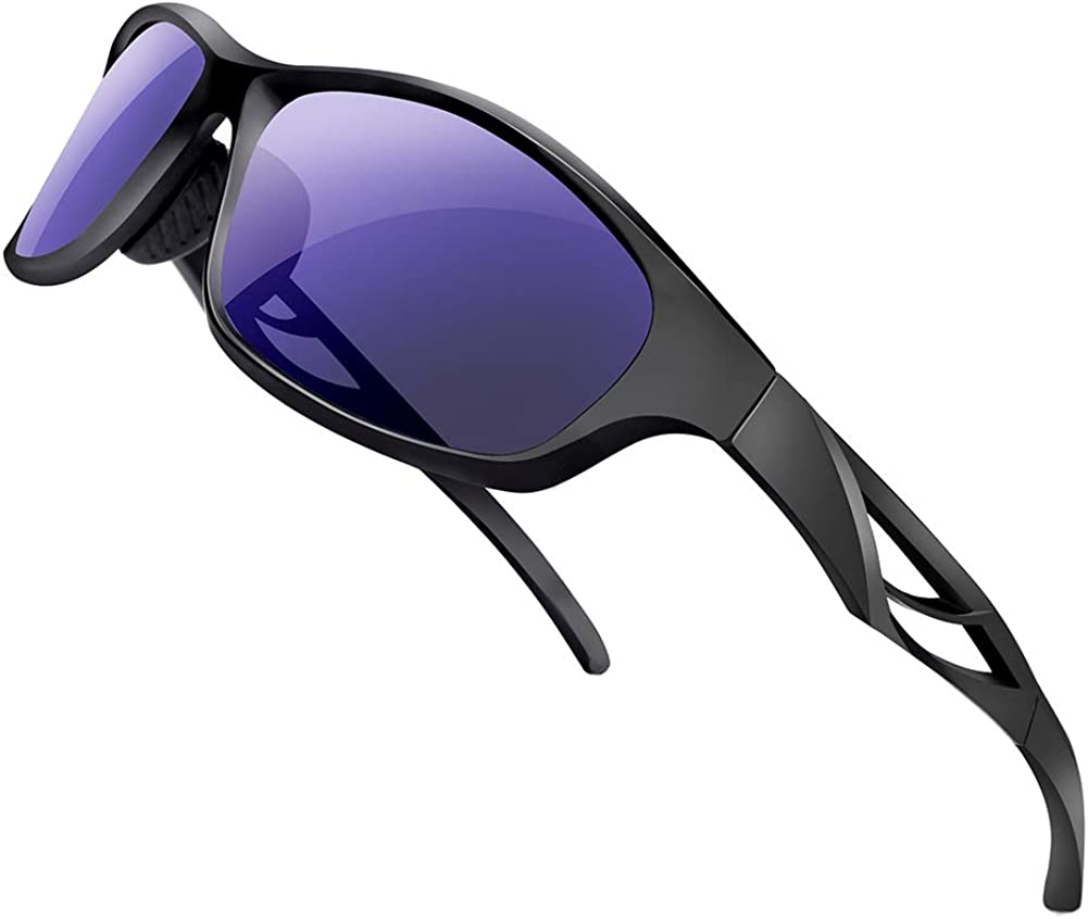 Polarized Sports Sunglasses Lightweight TR90 Glasse