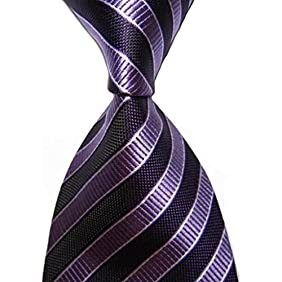 KissTies Mens Extra Long Tie Striped Necktie + Gift Box (63'' XL)