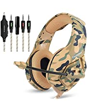 ONIKUMA K1 Stereo Bass Surround PC Gaming Headset for PS4 Xbox One Samsung Iphone tablet iPad, PC, laptop with Mic