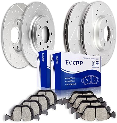 Brake Disc Rotors Ceramic Pads Ford Fusion 2010 F/&R