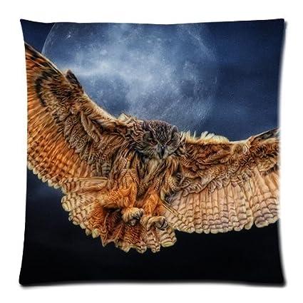 Wild búhos luna llena Midnight caza Custom ropa de cama funda de ...
