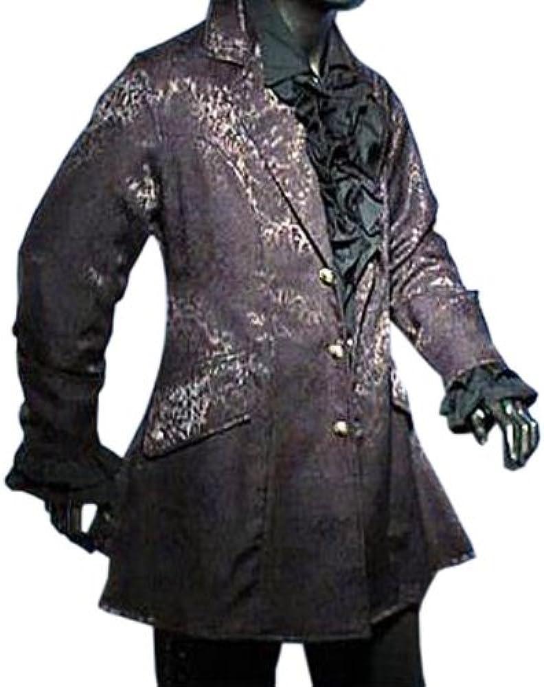 Levita de brocado negra - Disfraz medieval hombre - S: Amazon.es ...