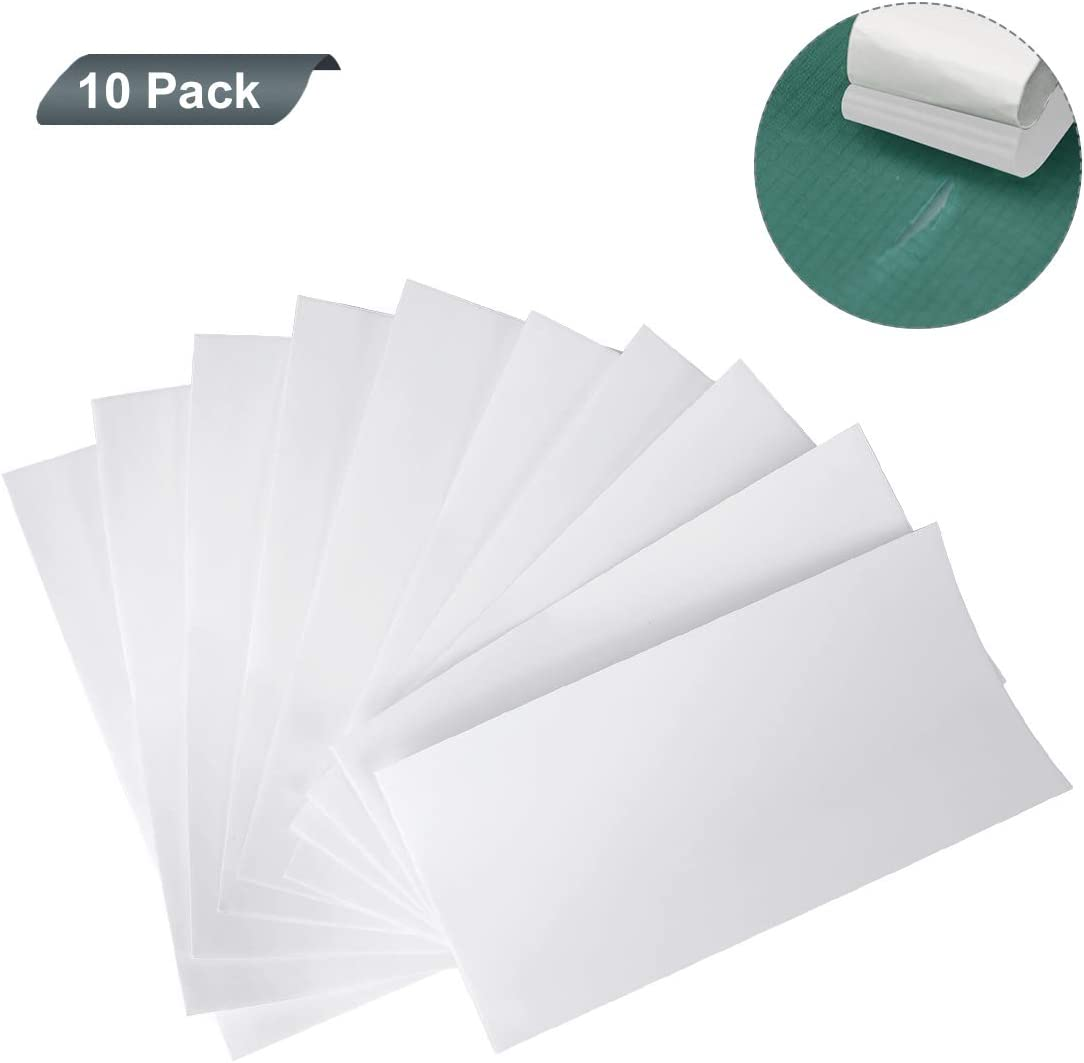 AIEVE impermeable mochilas Cinta de reparaci/ón de tienda de campa/ña margaritas y colchones inflables 10 unidades para reparaci/ón de tiendas de campa/ña toldos tenaz y flexible