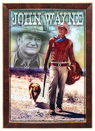 "John Wayne, Long Live Cowboy Western Film 24""x36"" Dark Red W"