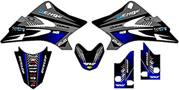 YAMAHA TTR50 MNSTR ARMY BLACK AND GREEN GRAPHICS DECALS 3M