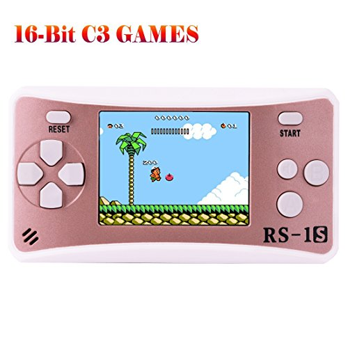 ZHISHAN Handheld Game Console for Children Built in 168 Classic Old Games Retro Arcade Gaming Player Portable Playstation Boy Birthday or Xmas Gift (Rose Gold)