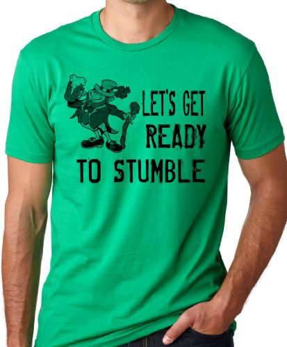St Patricks T Shirt (Lets Get Ready to Stumble Funny St Patrick's Day T-Shirt Green L)
