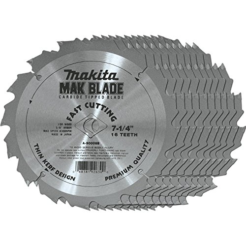 Makita A-90009-B-10 7-1/4-Inch Tungsten Carbide Blade 16T 10-Pack ()