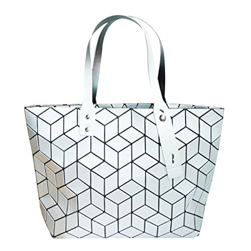 Clutch Meliya Leather Bag Holographic Fashion 1 Envelope Shoulder Womens Purse Handbag White Laser AqIq8cr