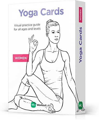 YOGA CARDS by WorkoutLabs: Premium Visual Practice Guide with Essential Poses, Breathing Exercises and Meditation - #1 Bestselling Illustrated Plastic Flash Cards Deck for All Ages & Experience Levels