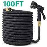 CACAGOO Garden Hose, 100 FT Durable Water Hose, Extra Strength Fabric - Improved